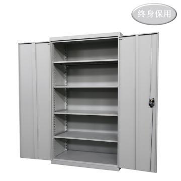 Raxwell 灰色双开门置物柜(四层板),尺寸(长*宽*高mm):1000*500*1800,RHST0022