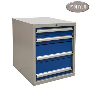 Raxwell 四抽标准工具柜,尺寸(长*宽*高mm): 566*600*700,RHTS0001