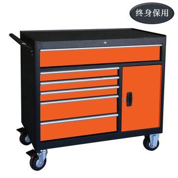 Raxwell 工业级8抽带门可移动工具车,尺寸(长*宽*高mm):1052×460×1030,RHTC0017