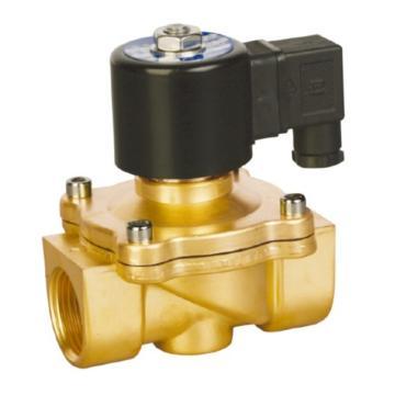 埃美柯/AMICO 黄铜电磁阀,J011X-10T DN32,直动式,常闭型,220v,742型
