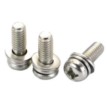 东明 GB9074.8十字槽小盘头螺钉、弹簧垫圈和平垫,M3-0.5X6,不锈钢304,3000个/盒