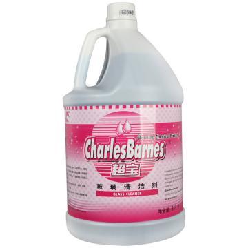 超宝 玻璃清洁剂,1加仑 4桶/箱 单位:桶