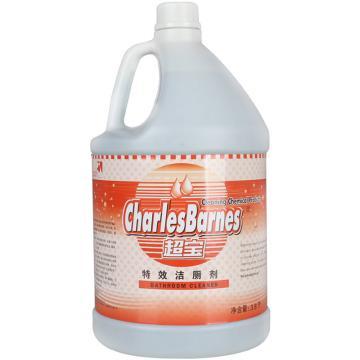 超宝 特效洁厕剂,1加仑 4桶/箱 单位:桶