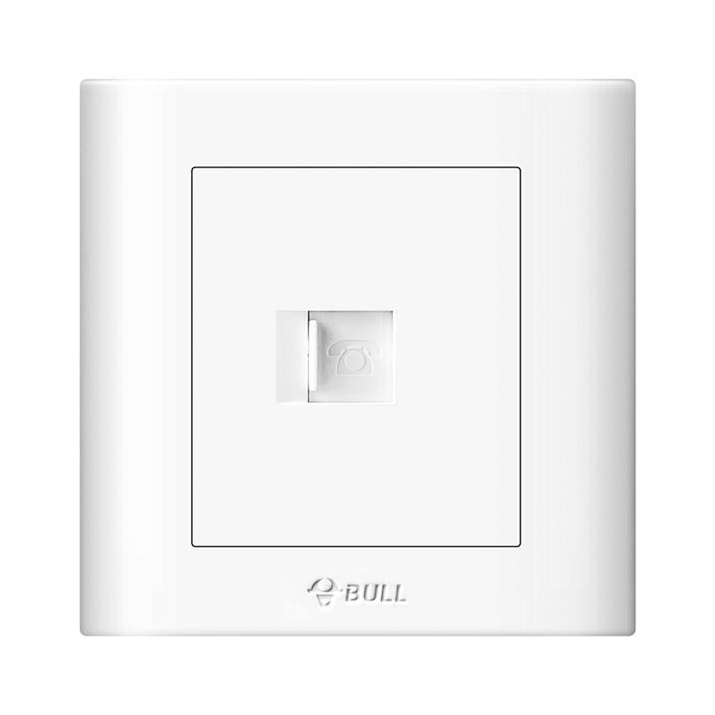 公牛/BULL 开关面板一位电话插座86型白色暗装一位电话,GN-G32T101