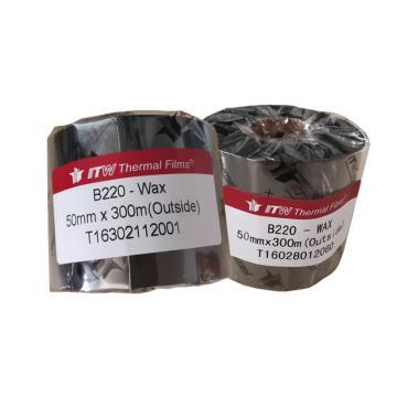 依工(ITW) B220 50mm*300M 蜡基碳带
