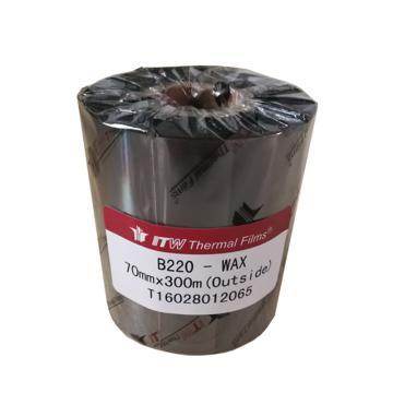 依工(ITW) B220 70mm*300M 蜡基碳带