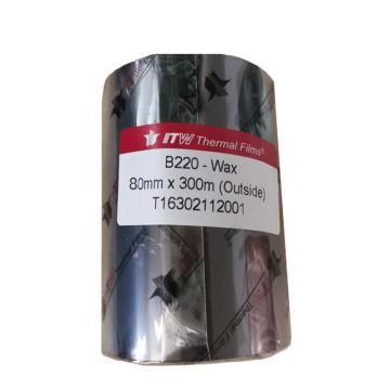 依工(ITW) B220 80mm*300M 蜡基碳带