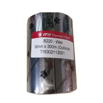 依工(ITW) B220 90mm*300M 蜡基碳带