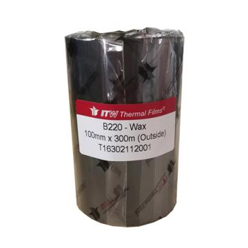 依工(ITW) B220 100mm*300M 蜡基碳带