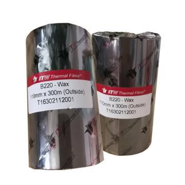 依工(ITW) B220 110mm*300M 蜡基碳带