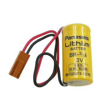 松下 电池,BR-2/3A 3V 带施耐德PLC专用插头
