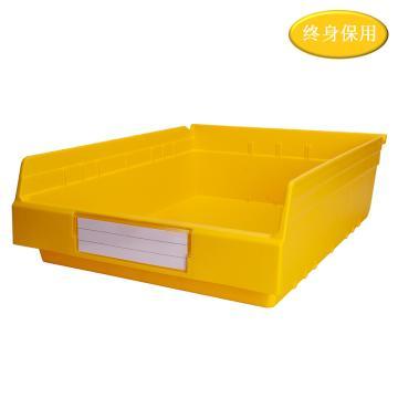 Raxwell 精益零件盒 物料盒,外尺寸规格D*W*H(mm):500×400×150,全新料,黄色,单位:个