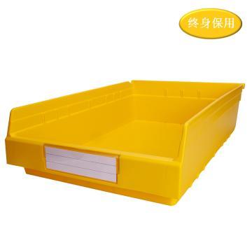 Raxwell 精益零件盒 物料盒,外尺寸规格D*W*H(mm):600×400×150,全新料,黄色,单位:个