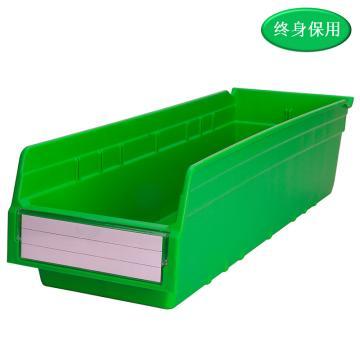 Raxwell 精益零件盒 物料盒,外尺寸规格D*W*H(mm):600×200×150,全新料,绿色,单位:个