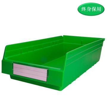 Raxwell 精益零件盒 物料盒,外尺寸规格D*W*H(mm):600×300×150,全新料,绿色,单位:个