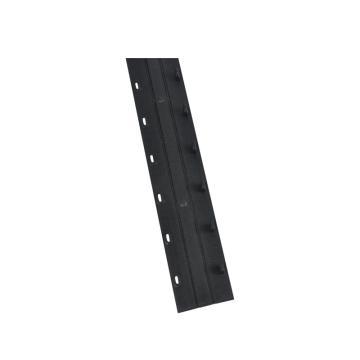优玛仕 10mm 10孔装订夹条 黑色 100个/盒