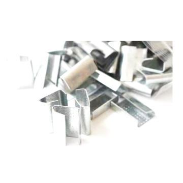 Raxwell PET塑钢带打包扣,适用打包带宽:19mm厚度:1mm,手工带打包扣,不锈钢镀锌,1500个/箱