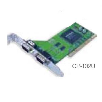 摩莎Moxa 2串口RS-232通用PCI多串口卡,CP-102U