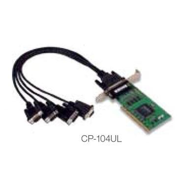 摩莎Moxa 4串口RS-232Universal PCI串口卡,CP-104UL-DB9M