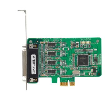 摩莎Moxa 4口RS-232PCI Express串口卡带数据线,CP-104EL-A