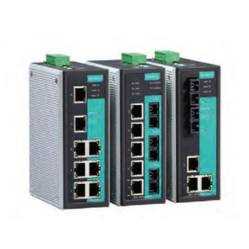 摩莎Moxa 5口管理型百兆工业以太网交换机,EDS-405A