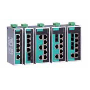 摩莎Moxa 8口非网管百兆工业以太网交换机,EDS-208A