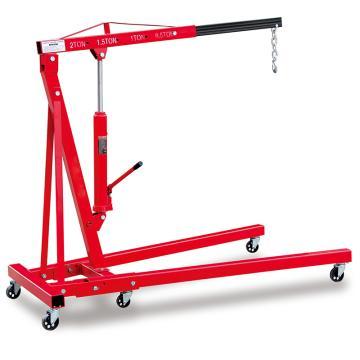 Raxwell 1000Kg美式可折叠式单臂吊,吊臂长度4工位可调1160-1445mm,RMSA0003