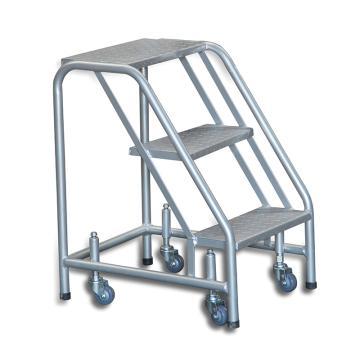 Raxwell 200Kg3层踏板可移动登高取货梯,离地高度758mm(受载时) 顶层踏板宽448*深250mm,RMPE0044