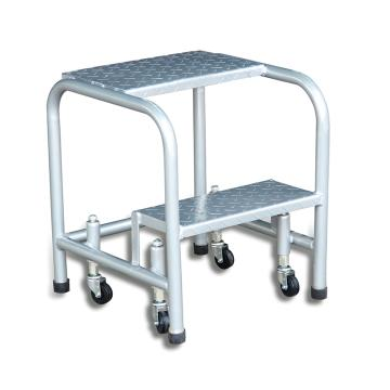 Raxwell 200Kg2层踏板可移动登高取货梯,离地高度508mm(受载时) 顶层踏板宽422*深250mm,RMLP0013