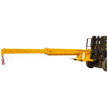 Raxwell 596Kg-3000Kg叉车专用伸缩吊臂,吊臂水平时吊臂角度三孔位可调 叉孔180*60mm,RMSF0004