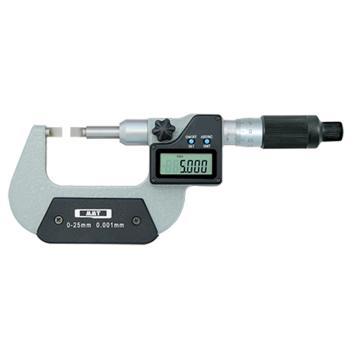 青量 电子叶片千分尺 25-50mm,295-12-410