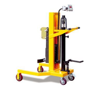 Raxwell 450Kg重型油桶称重车,平行支腿前轮架内宽665mm 提升行程600mm 称重精度±3%,RHMC0063