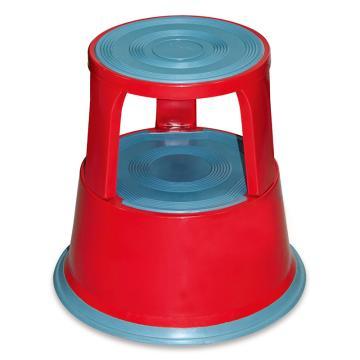 Raxwell 150Kg钢制脚凳,红色,RMLS0003
