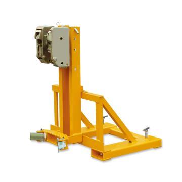 Raxwell 360Kg油桶搬运夹(夹扣式),单桶(叉车专用) 高度可调 双鹰嘴型,RMCM0004