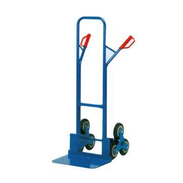 Raxwell 200Kg 钢制爬梯型老虎车,铲板(长*宽):300*480mm 实心橡胶轮胎,RHMC0140