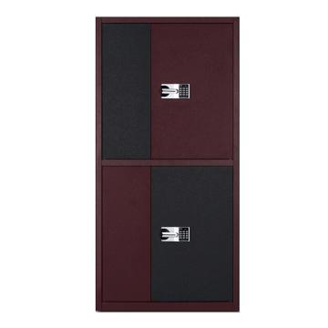臻远 通双节电子保密柜红框黑红门套色国保锁,900*430*1850