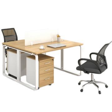 臻远 办公桌员工办公对面双人位(含柜椅),1200*1200*750