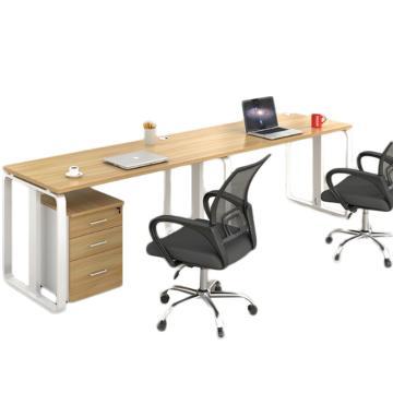臻远 办公桌员工办公并排双人位(含柜椅),2400*600*750