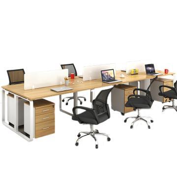 臻远 办公桌屏风桌员工六人位办公单人位(含柜椅),3600*1200*750