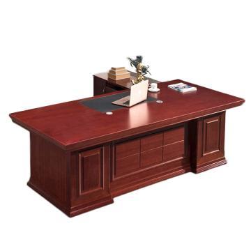 臻远 大班台主管桌老板桌经理桌办公桌 1.8*0.9含两柜,1800*900*760,不含椅子