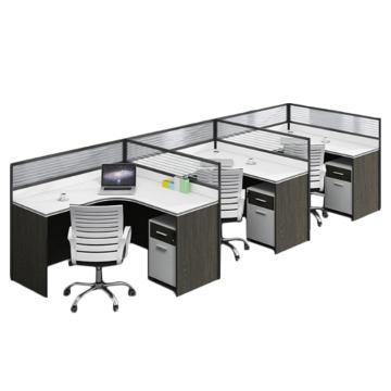 臻远 F型三人位屏风桌,不含椅子,4200*1200*1100
