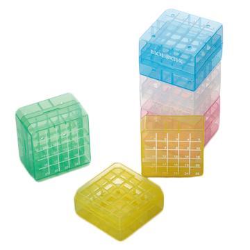 彩色PP冷冻盒,2英寸,100格,5个/袋,4袋/箱