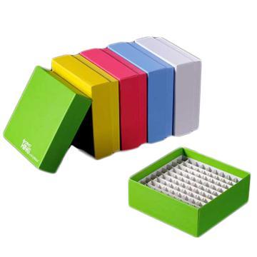 彩色纸冷冻盒,2英寸,100格,覆亚膜,5个/包,20包/箱