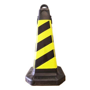 Raxwell 塑料提环方尖锥,黄黑,高700mm,底座350×350mm