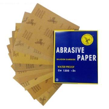 鹰牌耐水砂纸,碳化硅,500目,100张/包