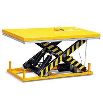 Raxwell 4000Kg带安全装置的电动升降平台,台面1000*2000mm 高度300-1400mm手持控制开关,RMPE0016
