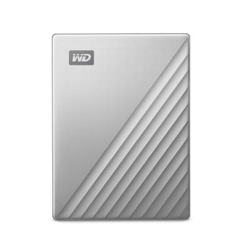 西部数据硬盘MY PASSPORT系列 移动硬盘 WDBFTM0040BSL-CESN 4TB 银色