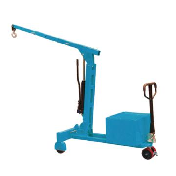 Raxwell 200-750Kg平衡重单臂吊(手动液压操控), 吊钩最大高度2503mm Ф180PU轮配脚刹,RMSA0011