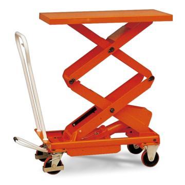 Raxwell 500Kg脚踏式升降平台车(双剪),台面1010*520mm,高度440-1575mm,RHMC0036