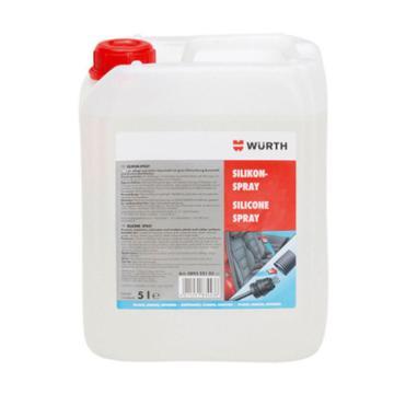 伍尔特 橡塑保养润滑硅喷剂,089322105,5L/桶